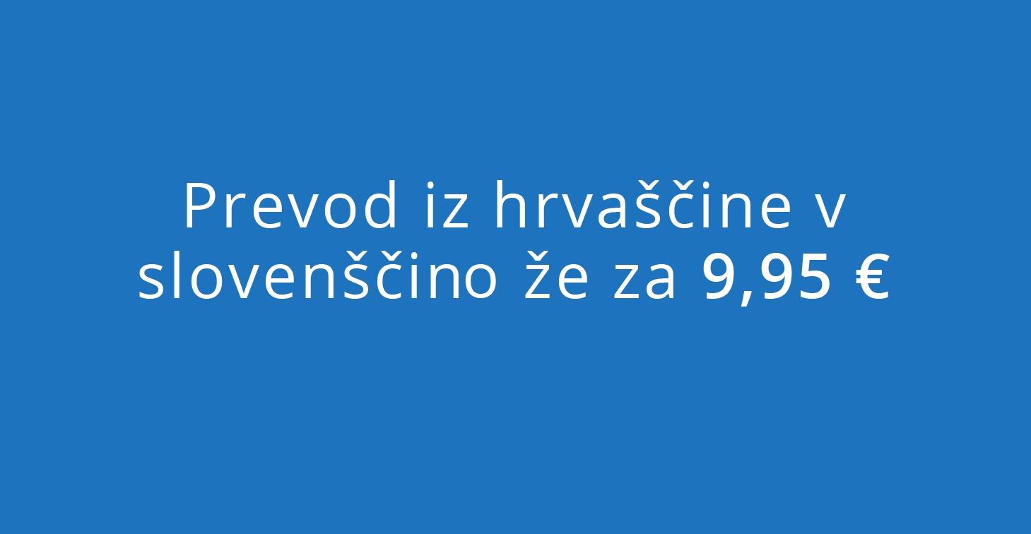 prevod iz hrvaščine v slovenščino